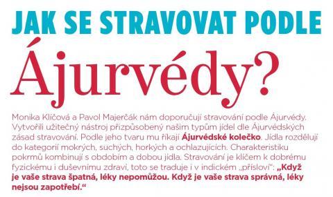 Časopis Kvalitní ŽIVOT - 9 / 2015 (ZÁŘÍ) - Jak se stravovat dle Ájurvédy