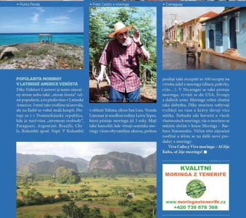 Časopis Kvalitní ŽIVOT - 9 / 2015 (ZÁŘÍ) - Fidel Castro - Moringa