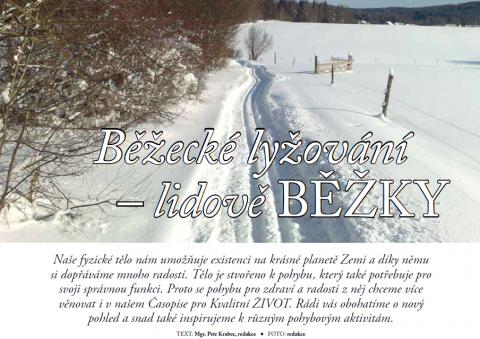 Časopis pro Kvalitní ŽIVOT - 3 / 2015 (BŘEZEN) - běžky