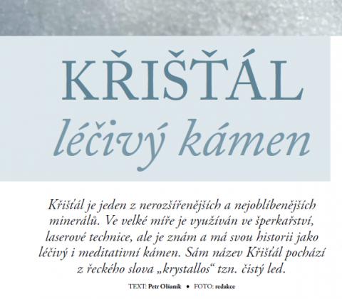 Časopis pro Kvalitní ŽIVOT - 3 / 2015 (BŘEZEN) - Léčivý kámen Křišťál