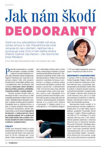 Jak nám škodí deodoranty 1. - Kvalitní ŽIVOT - červen 2015