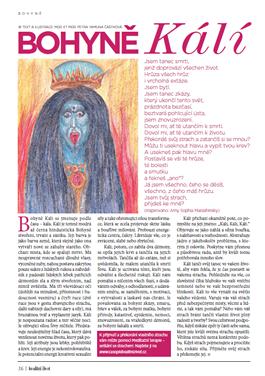 Bohyně Kálí - časopis Kvalitní ŽIVOT - 6 - 2015