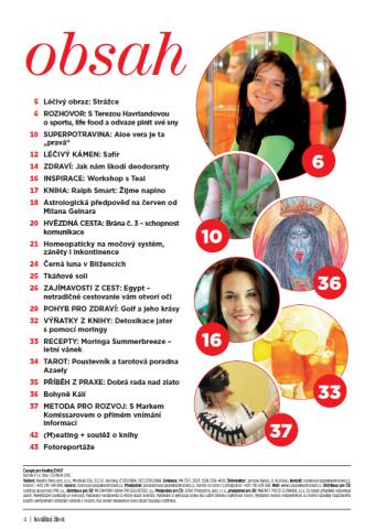 Časopis Kvalitní ŽIVOT - 6 / 2015 (ČERVEN) - Obsah