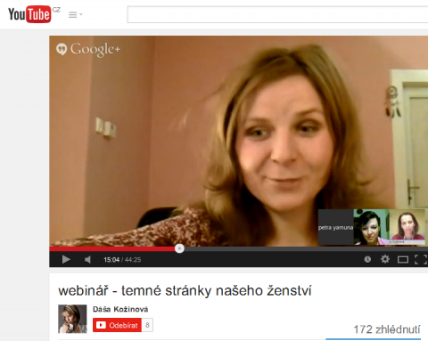 webinář - Temné stránky našeho ženství - Mgr. et Mgr. Petra Yamuna Částková