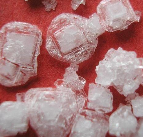 Krystaly diamantové vody