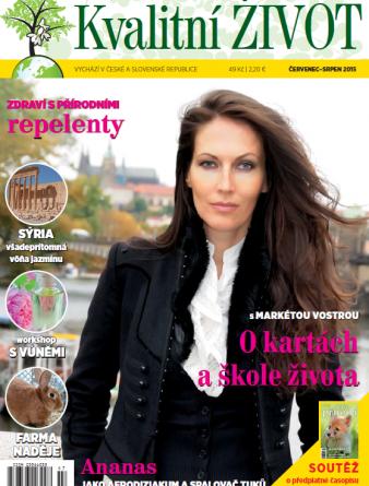 Časopis Kvalitní ŽIVOT - 7-8 / 2015 (ČERVENEC - SRPEN) - Titulní strána