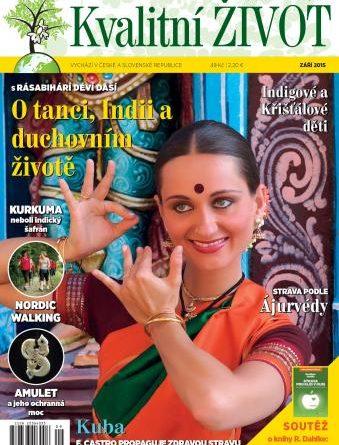 Časopis Kvalitní ŽIVOT - 9 / 2015 (ZÁŘÍ) - Titulní strana
