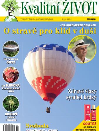 Časopis Kvalitní ŽIVOT - 9 / 2015 (ŘÍJEN) - TITULNÍ STRANA